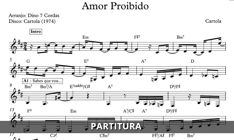 Amor Proibido - Cartola (Transcrição)