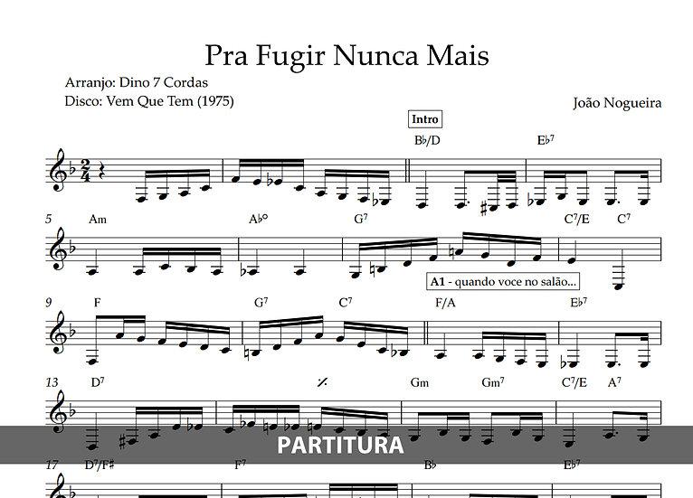 Pra Fugir Nunca Mais - João Nogueira (Transcrição)