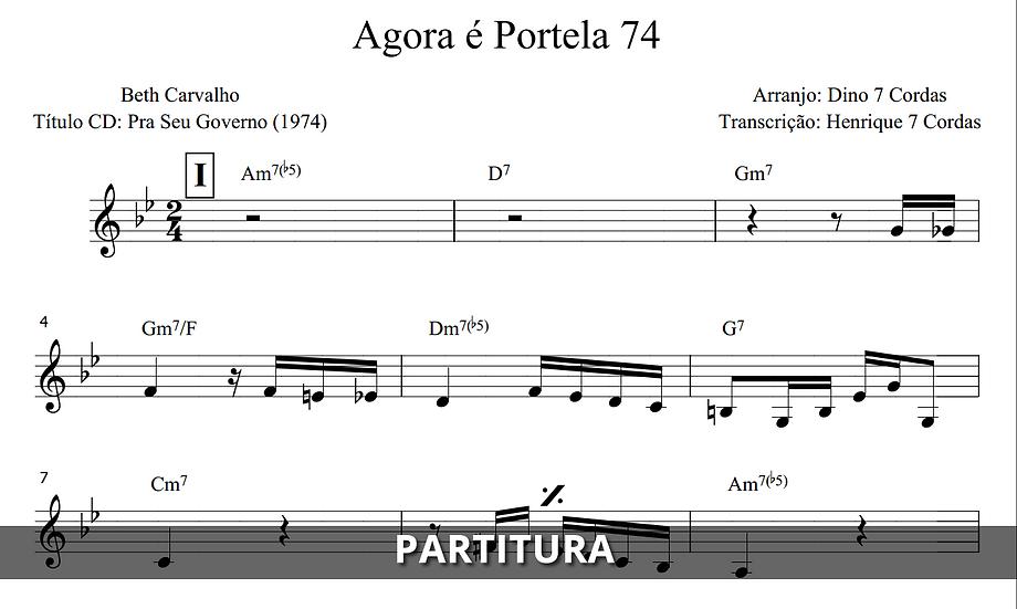 Agora é Portela 74 - Beth Carvalho (Transcrição)