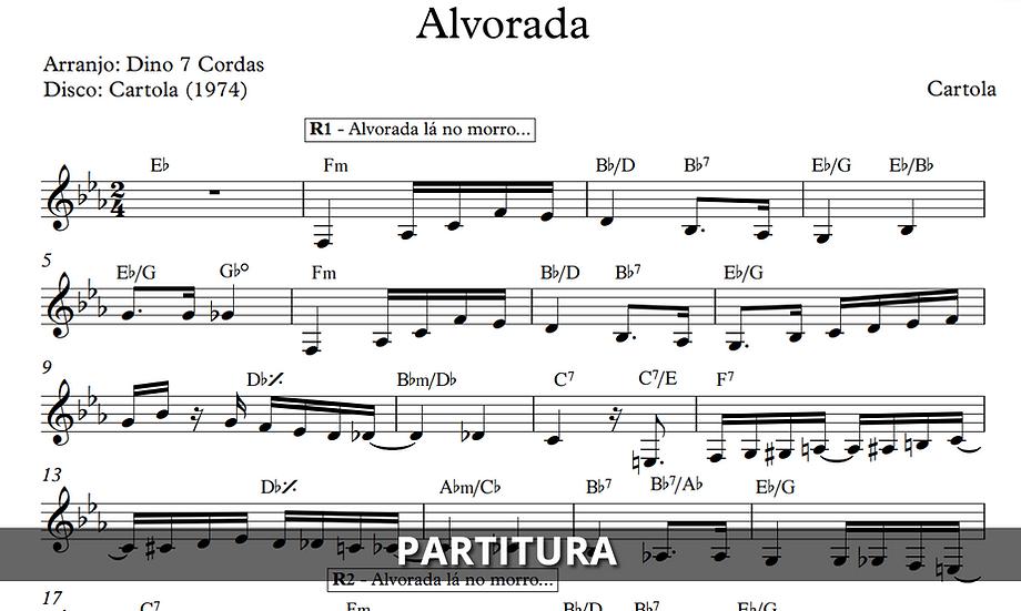 Alvorada - Cartola (Transcrição)