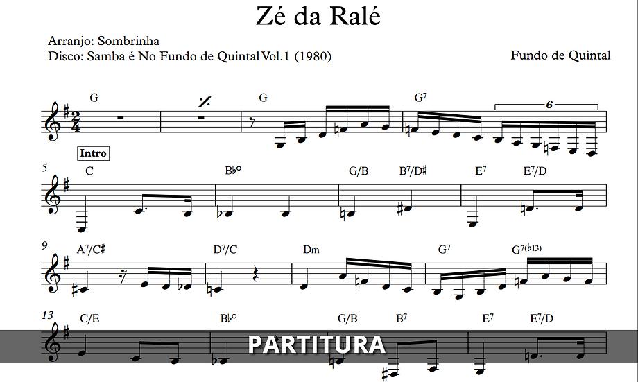 Zé da Ralé - Fundo de Quintal (Transcrição)