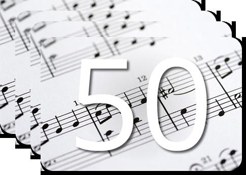 50 Partituras