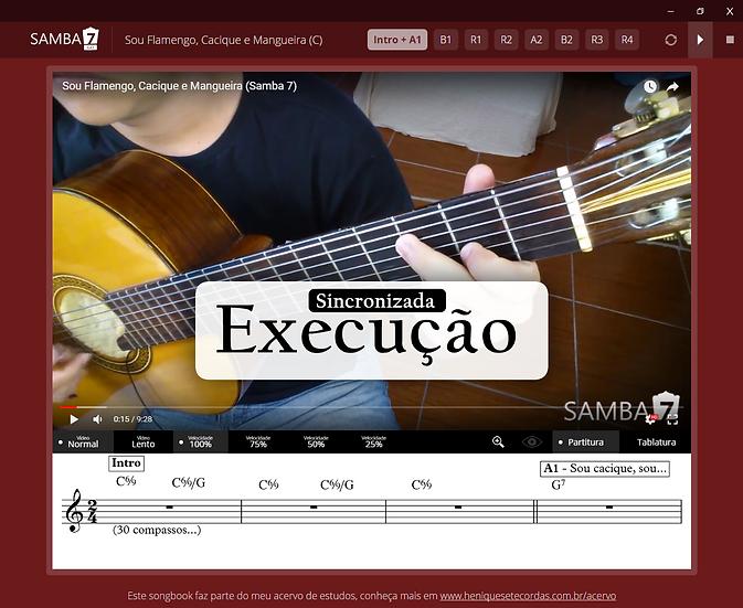 Sou Flamengo Cacique e Mangueira - Fundo de Quintal (Vídeo)