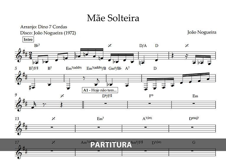 Mãe Solteira - João Nogueira (Transcrição)