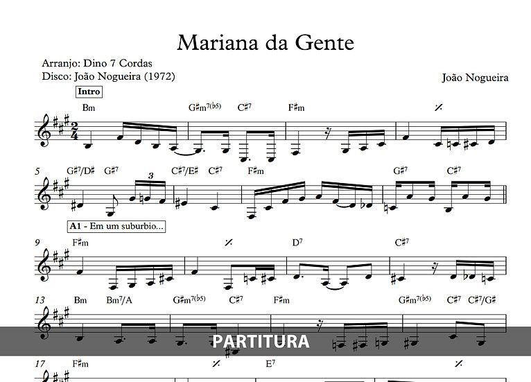 Mariana da Gente - João Nogueira (Transcrição)