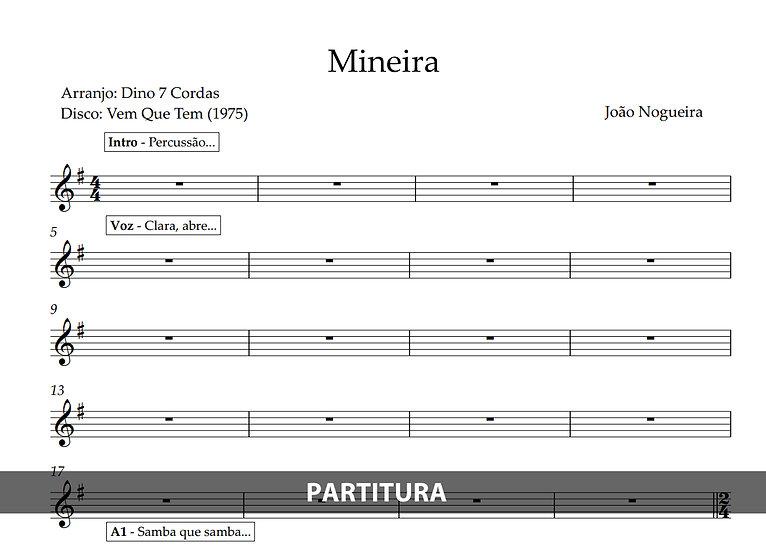 Mineira - João Nogueira (Transcrição)