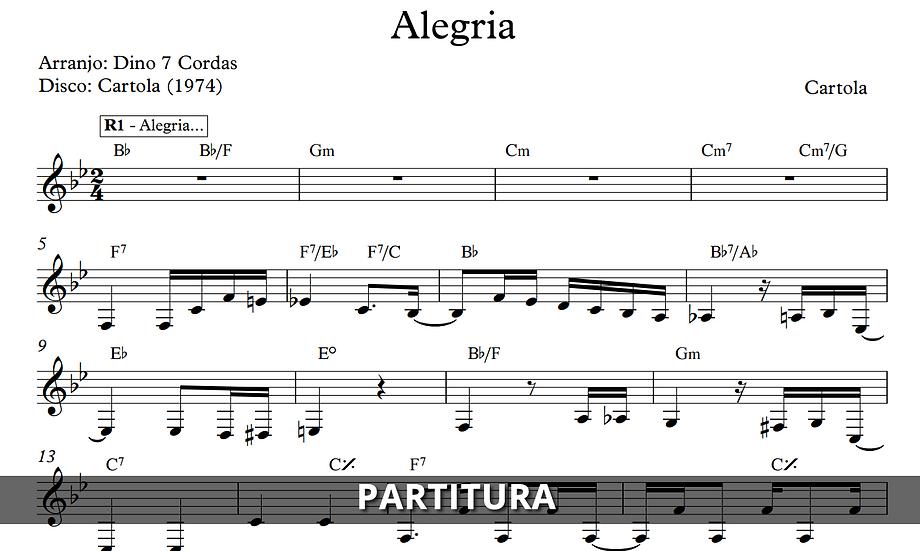 Alegria - Cartola (Transcrição)