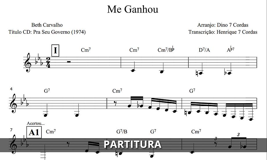 Me Ganhou - Beth Carvalho (Transcrição)