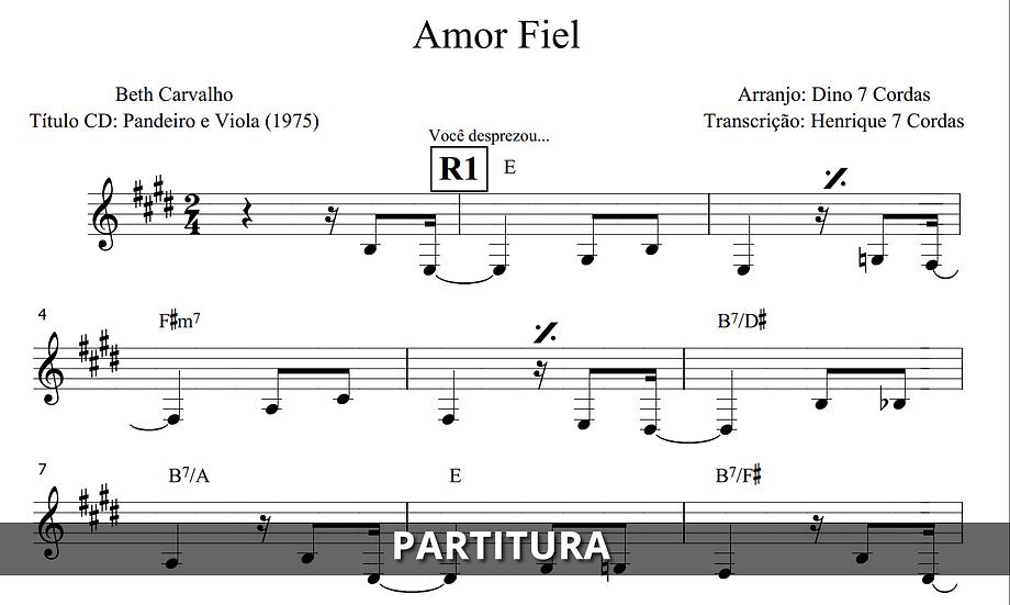 Amor Fiel - Beth Carvalho (Transcrição)