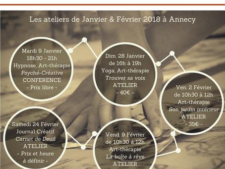 Les ateliers de Janvier & Février 2018