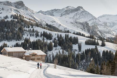 Bellervie-Camping_Winterlandschaft Gstaad
