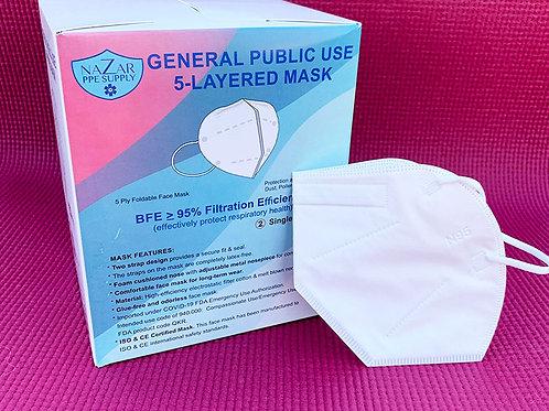 General Use 5 Layer Mask - (Case 1,200 masks)