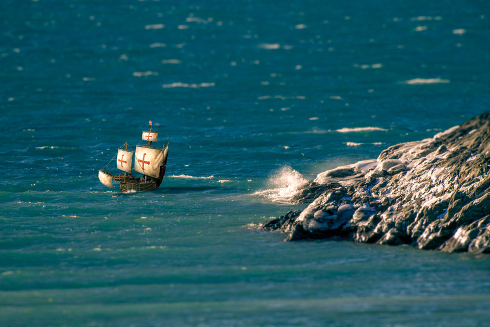 Jan 2018 Galleon on the sea.jpg