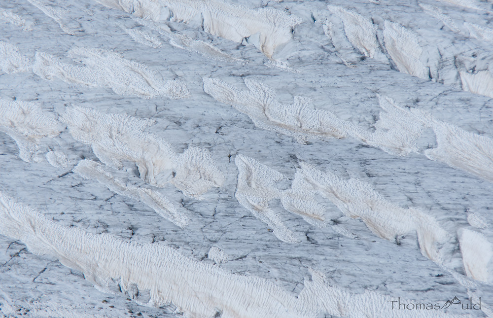An abstract of the crevasses on the Morteratsch Glacier, Switzerland.