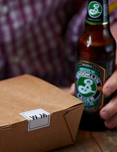 Walter and Monty Lunch Salad Box with Brooklyn Lager