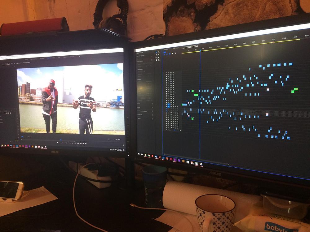 (Screenshot vom GO DOWN Projekt in Adobe PremierePro)