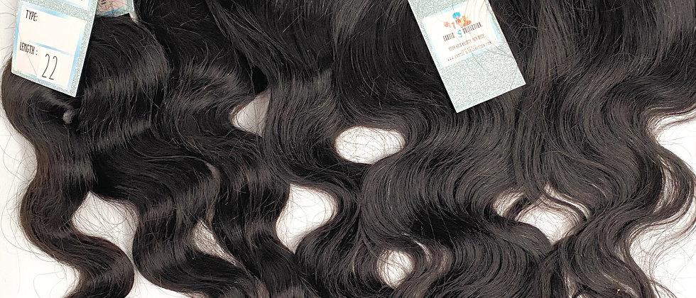 Exotic S Indian Body Wave Frontal Bundle Deal | 3 bundles