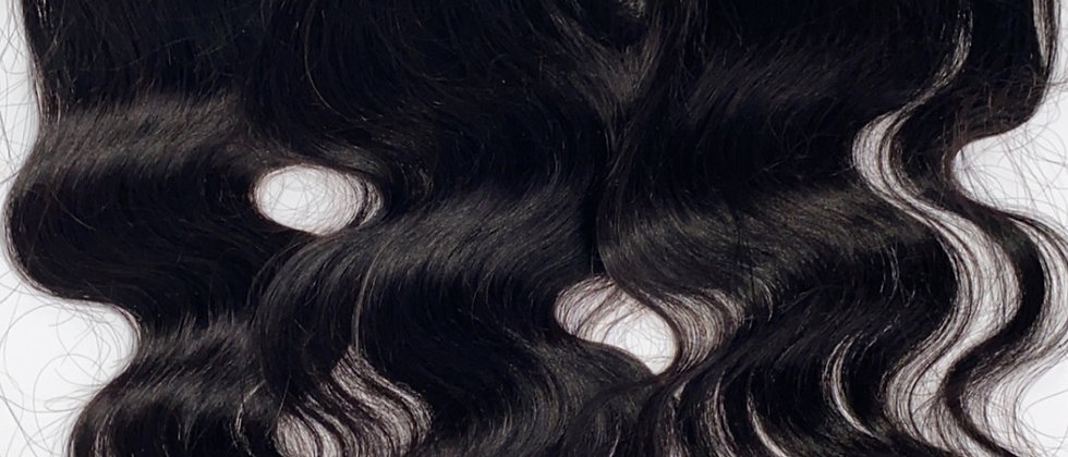 """Exotic S Indian Body Wave Hair 13 x 4"""" Transparent Lace Frontal"""