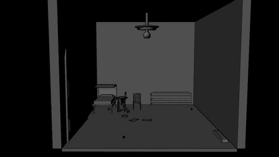spaceship diorama render untextured low