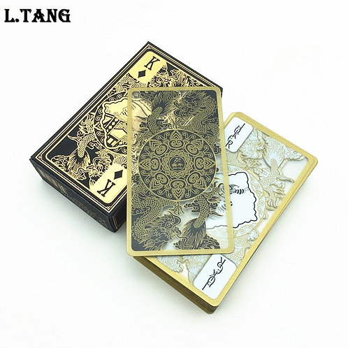 Gold Transparent Playing Cards