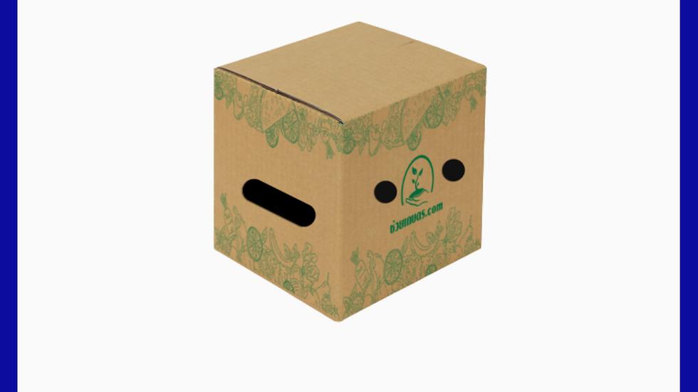 กล่องใส่ผลไม้ เบอร์ S น้ำหนัก ไม่เกิน 5 Kg. แพคละ 25 กล่อง