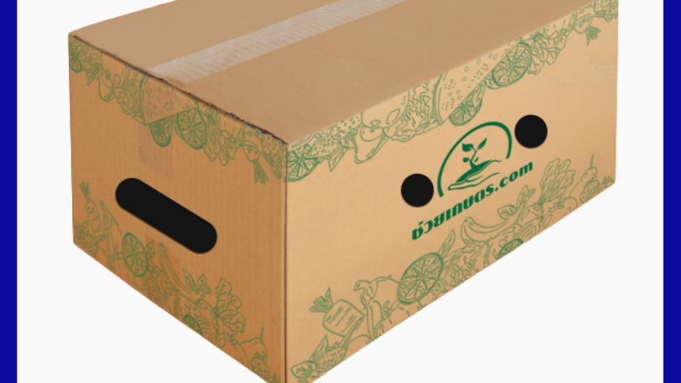 กล่องใส่ผลไม้ เบอร์ L น้ำหนัก ไม่เกิน 15 Kg. แพคละ 25 กล่อง