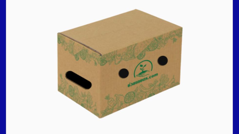 กล่องใส่ผลไม้ เบอร์ M  น้ำหนัก ไม่เกิน 10 Kg.  แพคละ 25 กล่อง