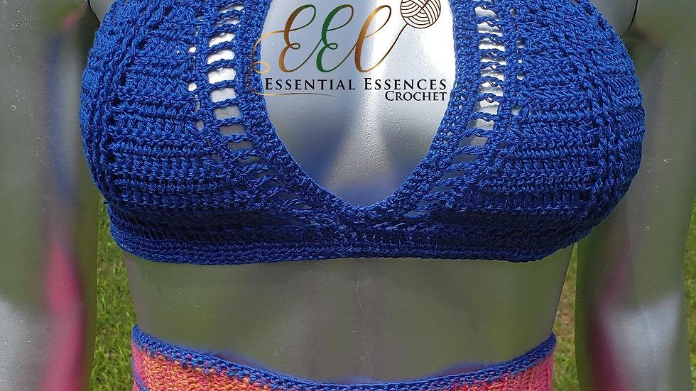 Crochet Multi-Color Jogger w/ Top (optional) S-M