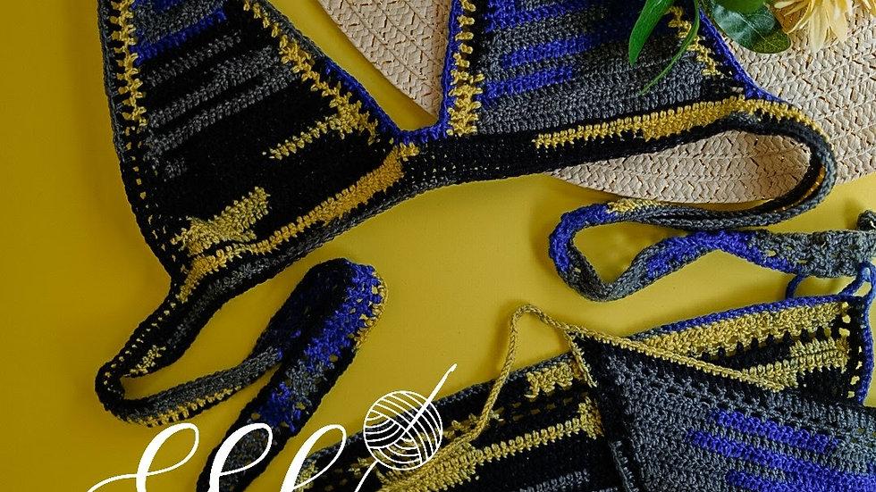 2pc Multi-color Crochet Bikini
