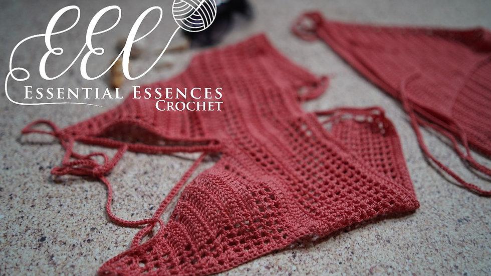 Crochet 2pc Peach Tankini Swimwear/Beachwear/Urbanwear