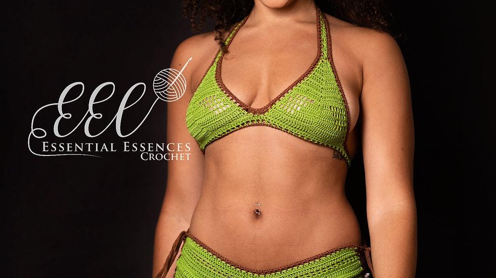 "2pc Crochet ""Earth"" Bikini (M-L)"