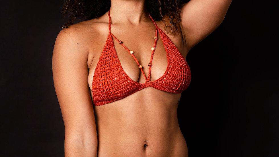 2pc Rust Crochet Bikini