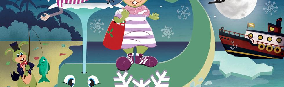 Julbluffen Kvarnteatern Poster Christmas 2018