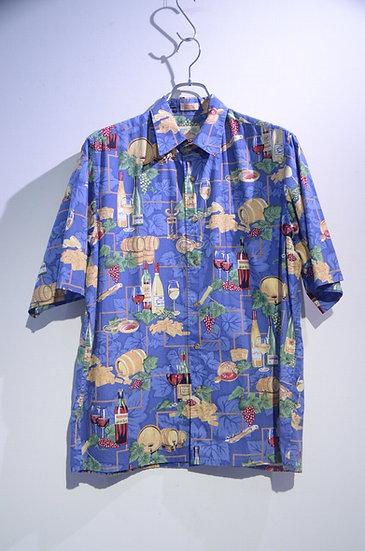 Used 00's Reyn Spooner Wine Leaf Print Shirt Made In Korea レインスプーナー プリントシャツ