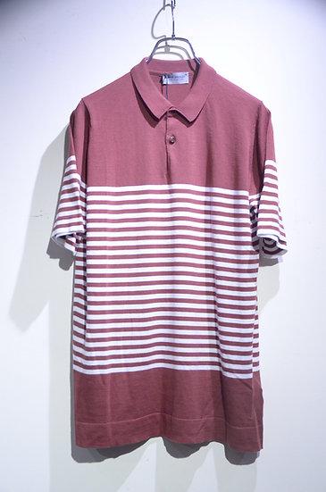John Smedley Cotton RONLI Polo Shirts Purple  ジョンスメドレー シーアイランドコットン ニットポロシャツ