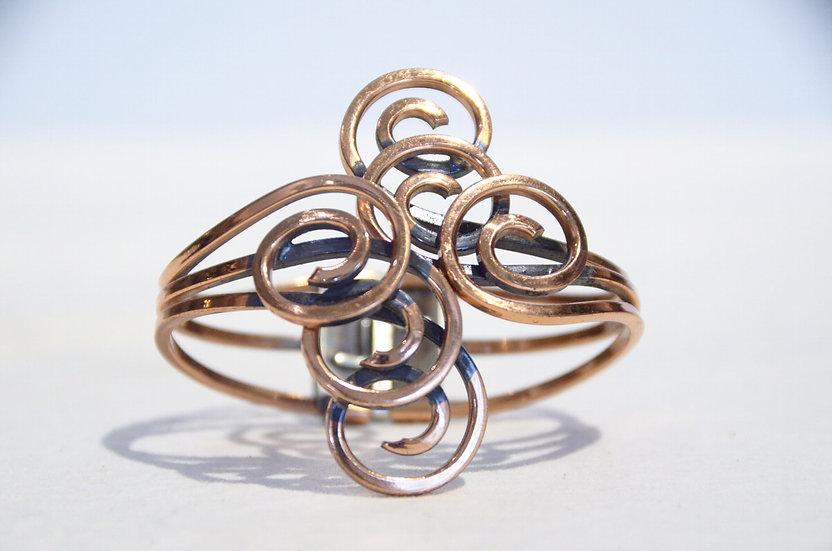 50s Vintage Modernist Rame Copper Bangle Bracelet Made in USA ヴィンテージ バングル