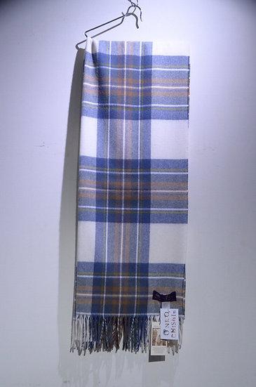 MOON Merino Lambswool Muffler Muted Blue Made in The UK ムーン ミューテッドブルー ラムウールマフラー