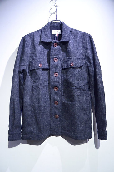 HAAR SCOTLAND Harris Tweed Herringbone CPO Jacket ハースコットランド ハリスツイード ジャケット
