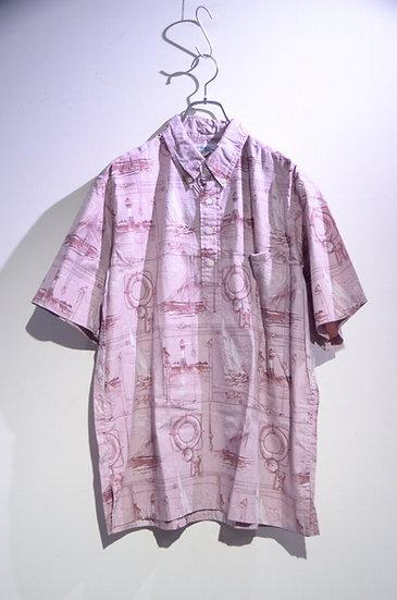Used 90's Reyn Spooner PullOver Shirt Print Made In Hawaii レインスプーナー プルオーバーシャツ
