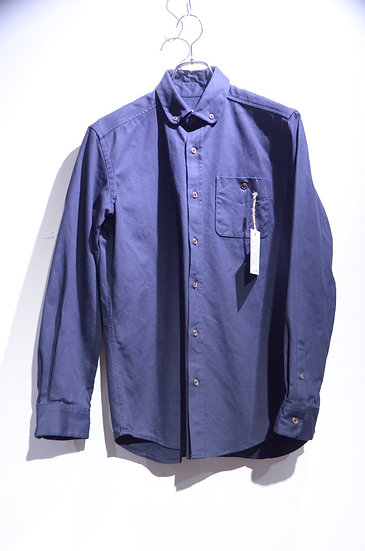 Grove & Co Rounded Collar B.D. Shirts NAVY Made in UK グローブ&コー ラウンドカラー シャツ
