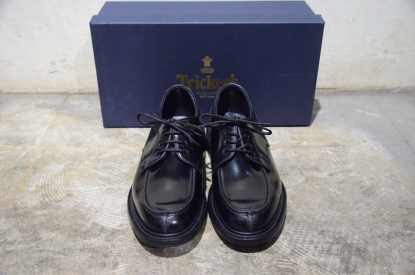 Tricker's REX Black BookBinder leather shoes Made in UK トリッカーズ ブックバインダー Uチップ