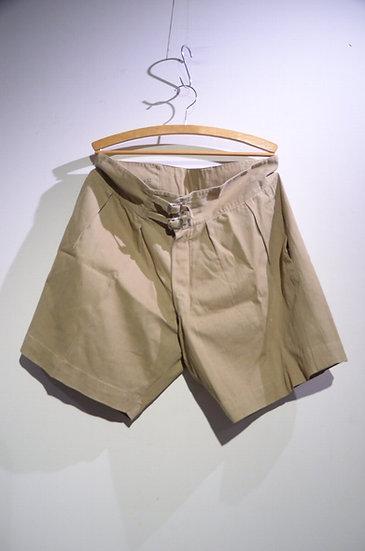 Vintage 1940s British Army Khaki Drill Shorts G Local made イギリス軍 カーキドリル ショーツ