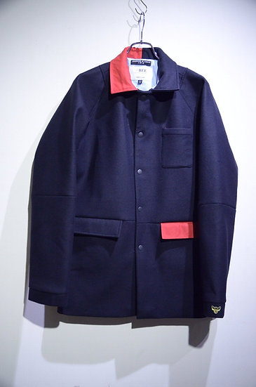 BEE Outerwear Wool Blend Trench Jacket Made in London ビーアウターウェア ウール トレンチ ジャケット