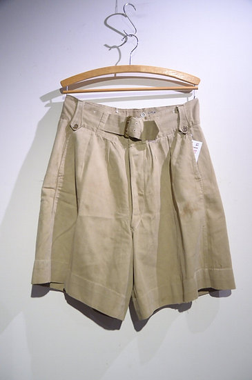 Vintage 1940s British Army Khaki Drill Shorts B Local made イギリス軍 カーキドリル ショーツ