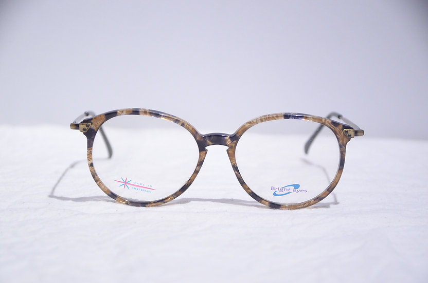 DEADSTOCK 80 - 90's Vintage Oval Glasses Made in England Brown ヴィンテージ 眼鏡 イギリス製