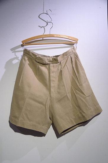 Vintage 1940s British Army Khaki Drill Shorts Local made イギリス軍 カーキドリル ショーツ