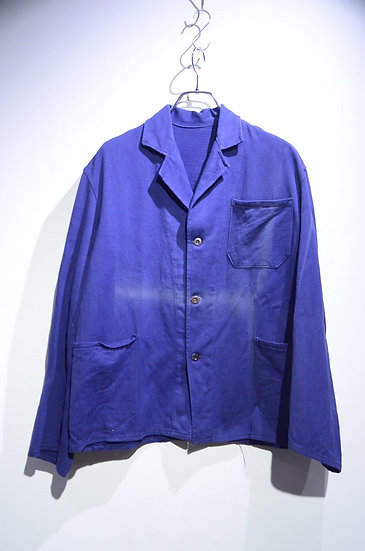 60s Vintage Dead Stock Euro Work Blue Jacket Sun Burst Made in Euro ユーロワークジャケット
