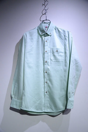 Grove & Co Cotton Rounded Collar B.D. Shirt Green Made in UK グローブ&コー ラウンドカラー シャツ