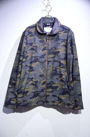 BEE Outerwear Wool Zip Camo Jacket Made in London ビーアウターウェア ウール ジップアップ カモジャケット