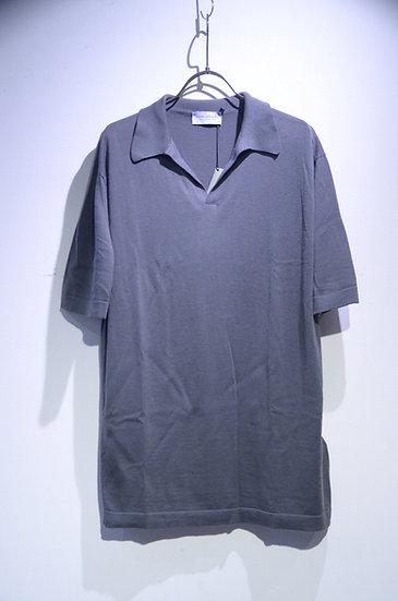 John Smedley SeaIsland Cotton Outram Skipper Knit Shirt ジョンスメドレー スキッパー ニットシャツ